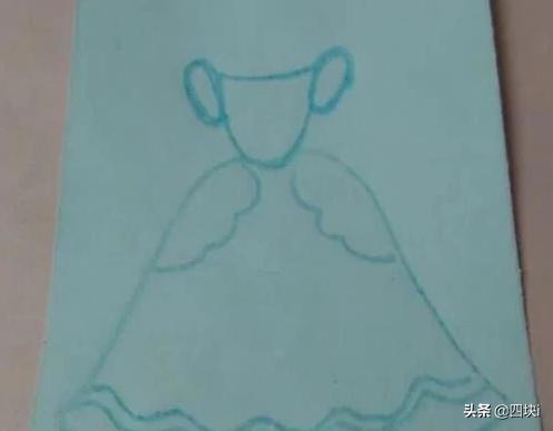 公主裙子怎么画,公主的中长礼服裙怎么画?