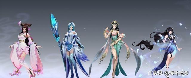 透明美女,你觉得王者荣耀四大美女谁最美?
