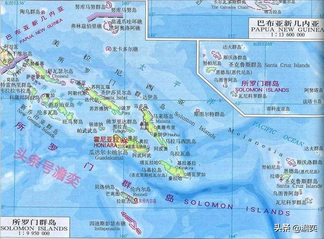 所罗门群岛是哪个国家(所罗门群岛在地图上的位置)