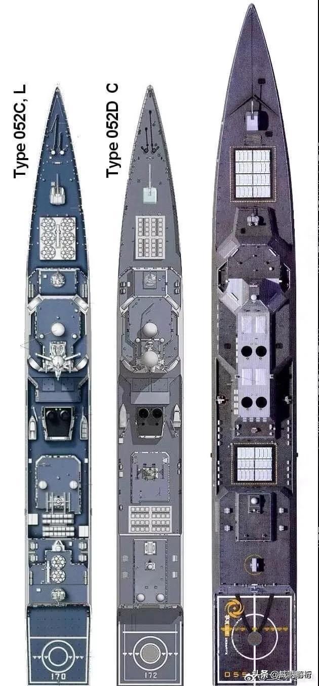 中国海军舰艇的垂发系统一坑几弹?