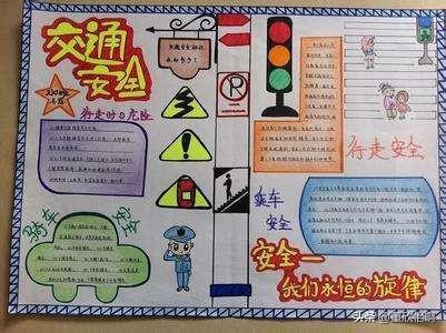 小学生安全教育手抄报上面写什么字?