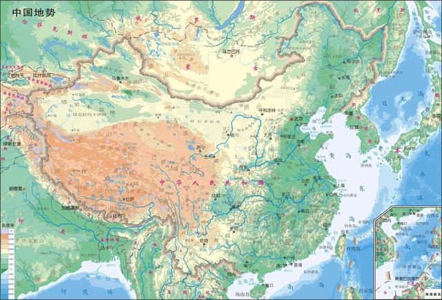 三国地图,蜀汉的疆域面积只比曹魏略小,东吴的地盘甚至比曹魏还大点(图6)