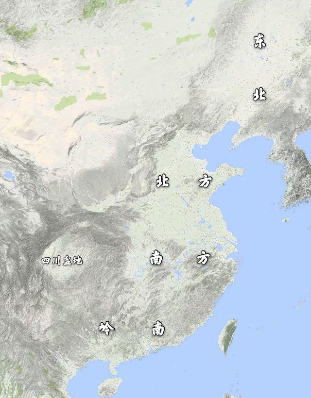 三国地图,蜀汉的疆域面积只比曹魏略小,东吴的地盘甚至比曹魏还大点(图9)