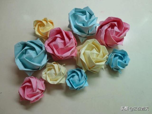 情人节礼物折纸花束教程,折纸玫瑰花的花枝怎么做啊?