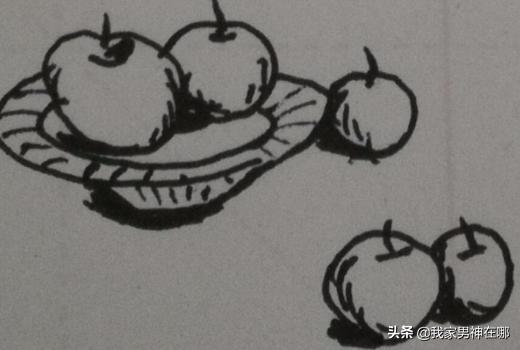 简笔画水果,水果、盘子的组合简笔画怎么画?